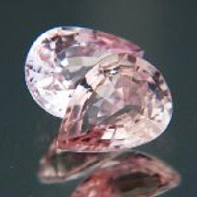 pair matching no-heat padparadscha sapphires