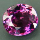 red sapphire from Ceylon, unheated