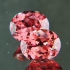 Mild orange purple pink Ceylon Zircon.