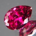unheated deep red purple pear rhodolite from africa in precision cut