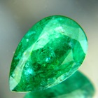 oil only zimbabwe emerald vivid green pear shape near 2 carat