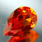 Deep reddish orange Spessartite garnet
