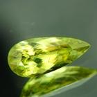 untreated russian sphene titanite in neon lime