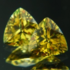 non heat brazilian yellow chrysoberyl set natural