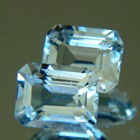 Aqua blue pair of Australian Topaz
