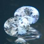 Tinted white pair of Ceylon sapphire