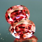 Pair of mild red purple Ceylon Zircon.