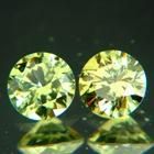 pair round brilliant demantoids non russian