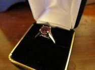 afghan red spinel in 18k gold ring