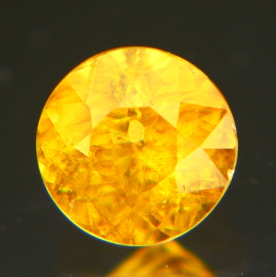 Orange yellow Ceylon sphene