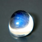 blue sheen in round bullet cabochon colorless moonstone untreated natural from Sri Lanka