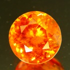round orange hessonite ceylon