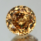 yellow zircon gemstone, unheated no treatments