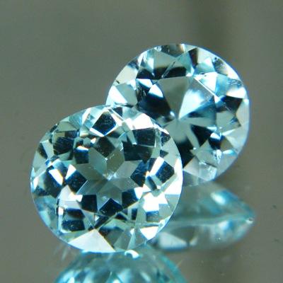 5.9 carat round aquamarine without heat treatment