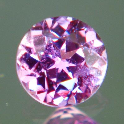 Intense pink purple African sapphire