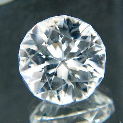 15 carat round white quartz
