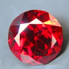 red garnet from sri lanka free of treatments, round cut, crimson red