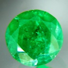 vivid green emerald round six mm