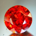 namian full size red orange spessartite round