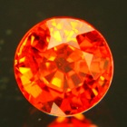 Pure deep orange Spessartite garnet