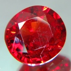 natural spinel red color to be set in gold ring