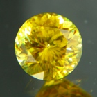 sun yellow sphene gemstone natural color unheated and not treated