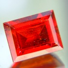 Deep red orange Spessartite garnet