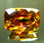 Orange red green yellow Pakistani titanite