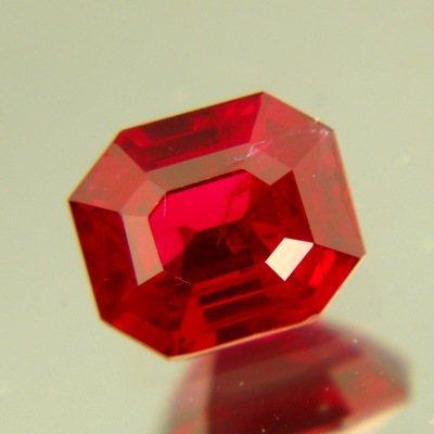 precision cut emerald shaped noheat ruby