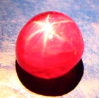 Rich cherry red Mogok star ruby