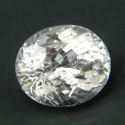 oval cut extra brilliant titanium colored rutile topaz from Brazil, unheated and natural, no window,