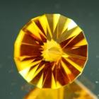 Fine untreated citrine in innovative cutting