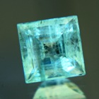 Columbian Emerald in square precision cut