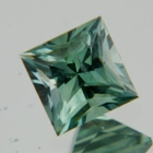 natural rainforest green sapphire square shape