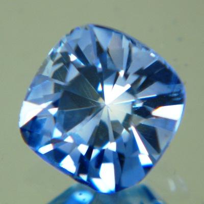 Bright sky blue Burmese sapphire