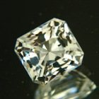 pure white topaz square shape not heated or treated