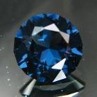 Deep ultramarine blue Ceylon cobalt spinel