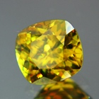 Rainbow yellow green African sphene