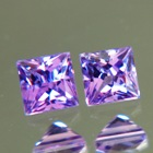 pair untreated purpla sapphires