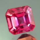 Rich rose pink African sapphire