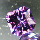 cushion Uruguay amethyst unheated and natural in precision cut
