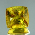Rainbow in green yellow Madagascar sphene