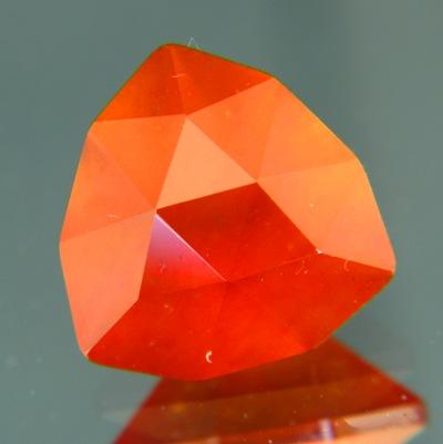 precision cut 8 carat orange hessonite