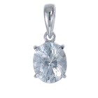 untreated natural white topaz set in four prongs pendant 18k yellow gold