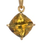 magnificent 18k yellow gold pendant with natural yellow tourmaline