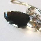 black tourmaline silver pendant
