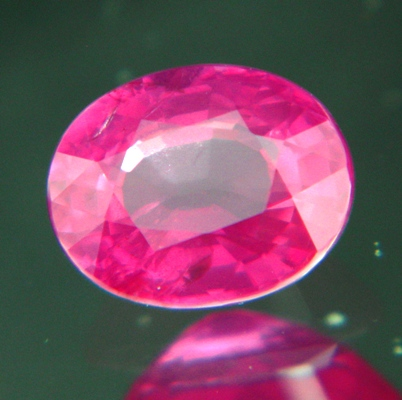 oval bargain padparadscha certified and unheated