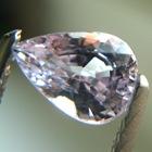 teardrop shape white natural sapphire