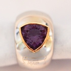 blood red natural amethyst in handcrafted gold ring