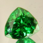 trillion top end green tsavorite grossulare garnet over one carat